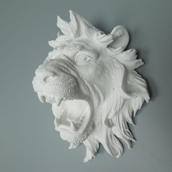 Polystone Lion Head Wall Decor