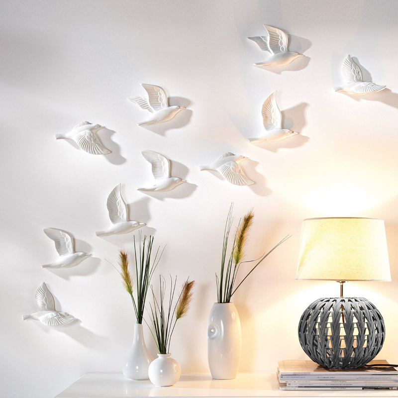 Resin  3D Flying Birds Wa...