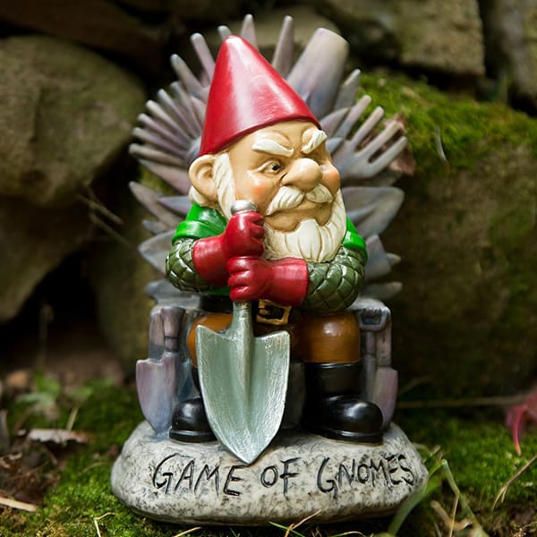 Resin Game of Gnomes Garden statue