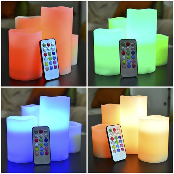 Flameless Unscented Safe LED Indoor Candle