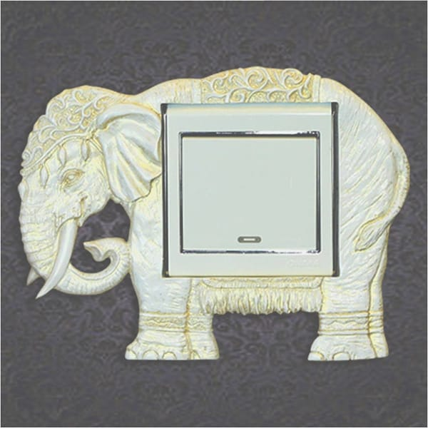 Elephant Wall Swtch Plate