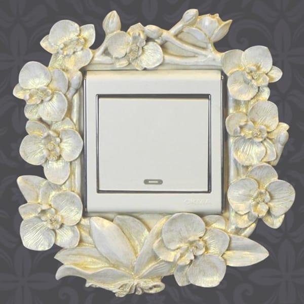 flower Wall Swtch Plate