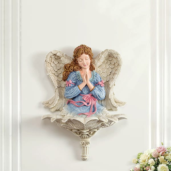 Resin Praying Angel Wall Statue Decor