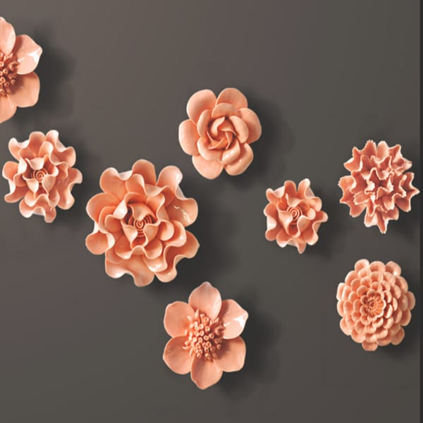Resin 3d Flower Wall Decoration