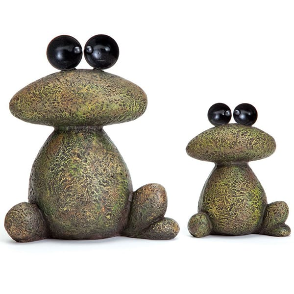 Polyresin Stone Effect Frog Sculpture For Garden Decoration