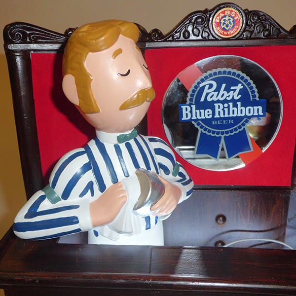 (Pabst Blue Ribbon) Bottle Display