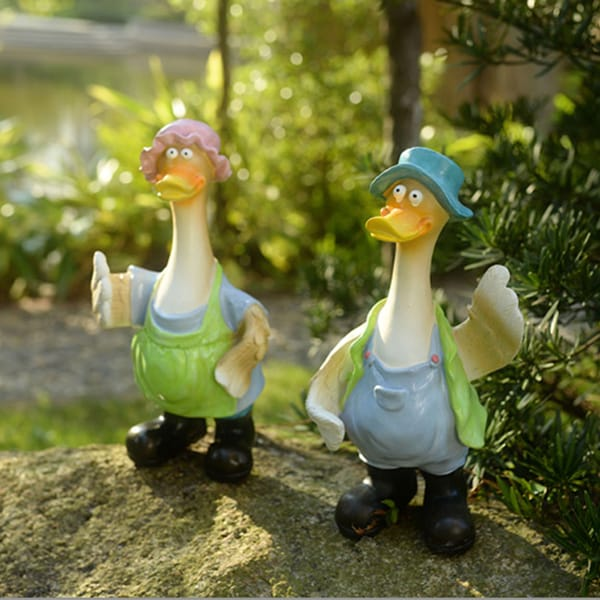 Resin Outdoor Cartoon Duck...