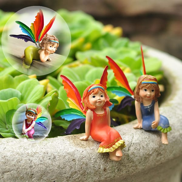 Resin Mini Little Fairy Figurine