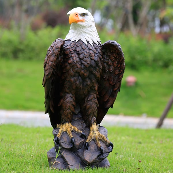 Genial Resin Outdoor American Bald Eagle Statue