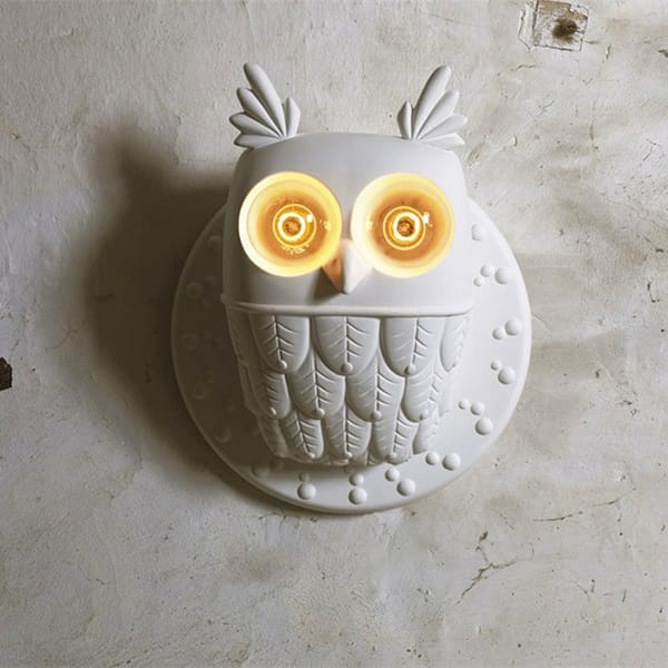 Resin White Owl Design W...