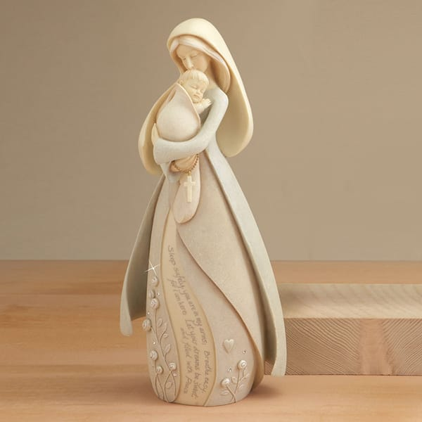 Mary And Baby Jesus Statue Figurine