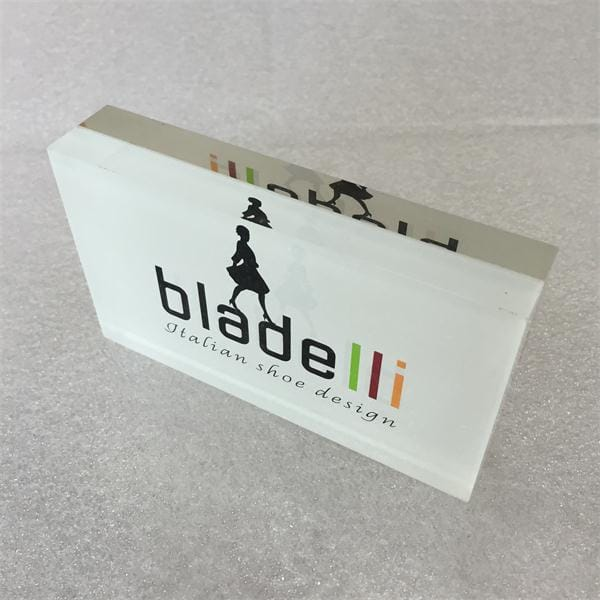Custom Branded Retangular Advertising Transparent Resin Block