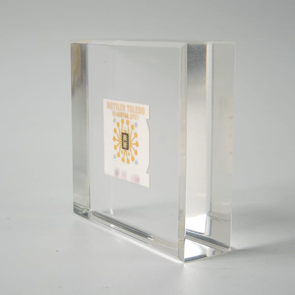 Embedded Paperweight Display