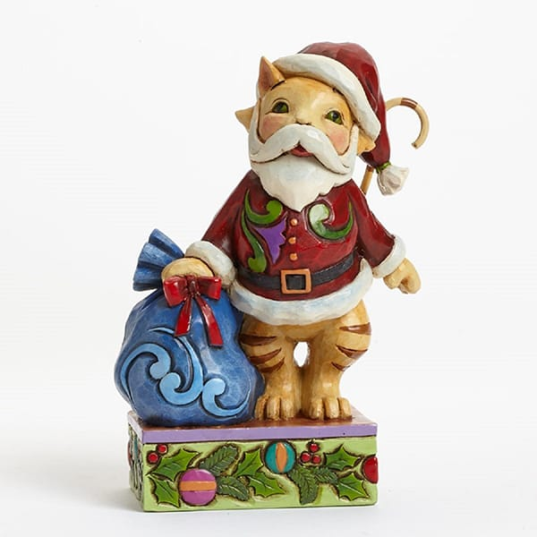 Resin christmas tiger figurine decorations