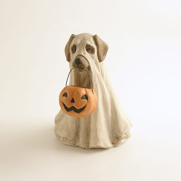 Resin Halloween Dog Figur...