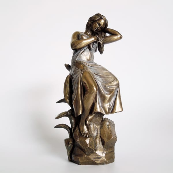 Cold casting Bronze Resin Lady Figurines