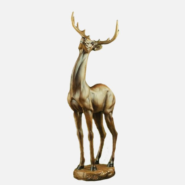 Resin Lifelike Detail Hand Paint Deer Statues