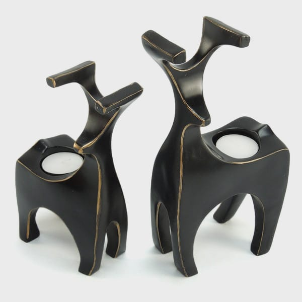 Resin Black Deer Tealight ...