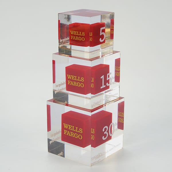 Clear Resin Cube Block Ad...