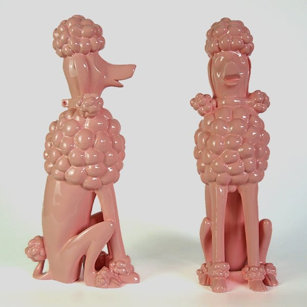 Resin Life Size Standing Poodle Statue
