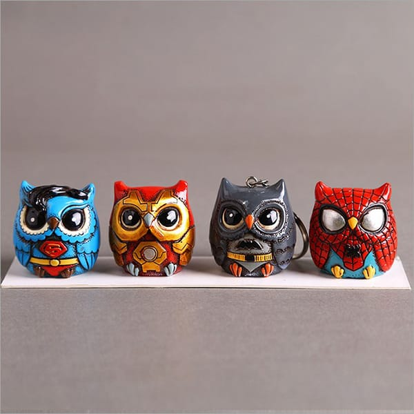 Resin cartoon owl figurine (15).JPG