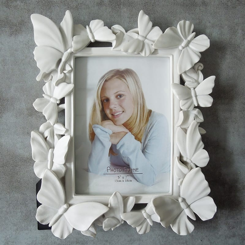 Resin White butterfly Photo frame