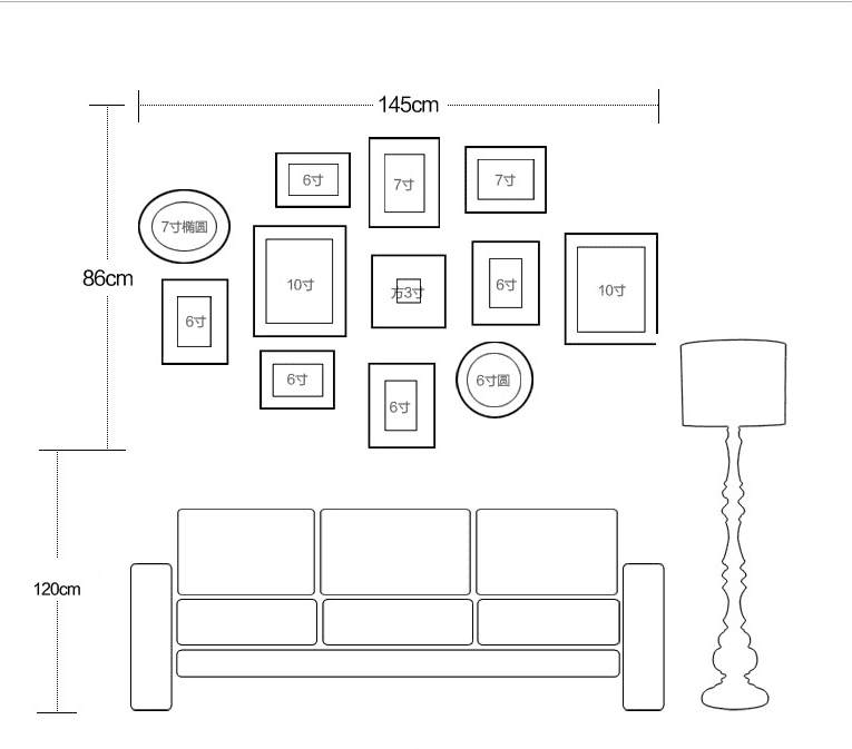 Photo frame Sketch Map