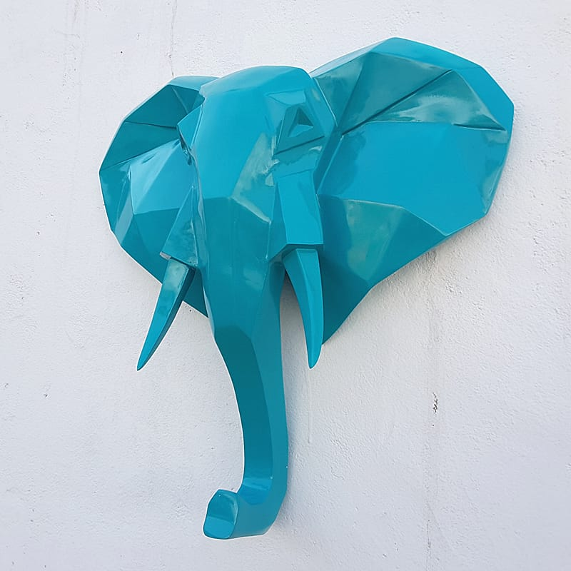 Polygon design Elephant Hea...