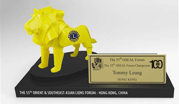 Summit Resin Craft Factory-OEM Lions Clubs Figure