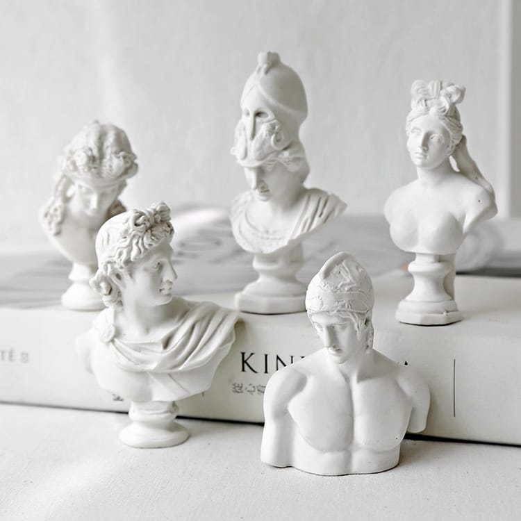 Resin Greek God Mini Bust...
