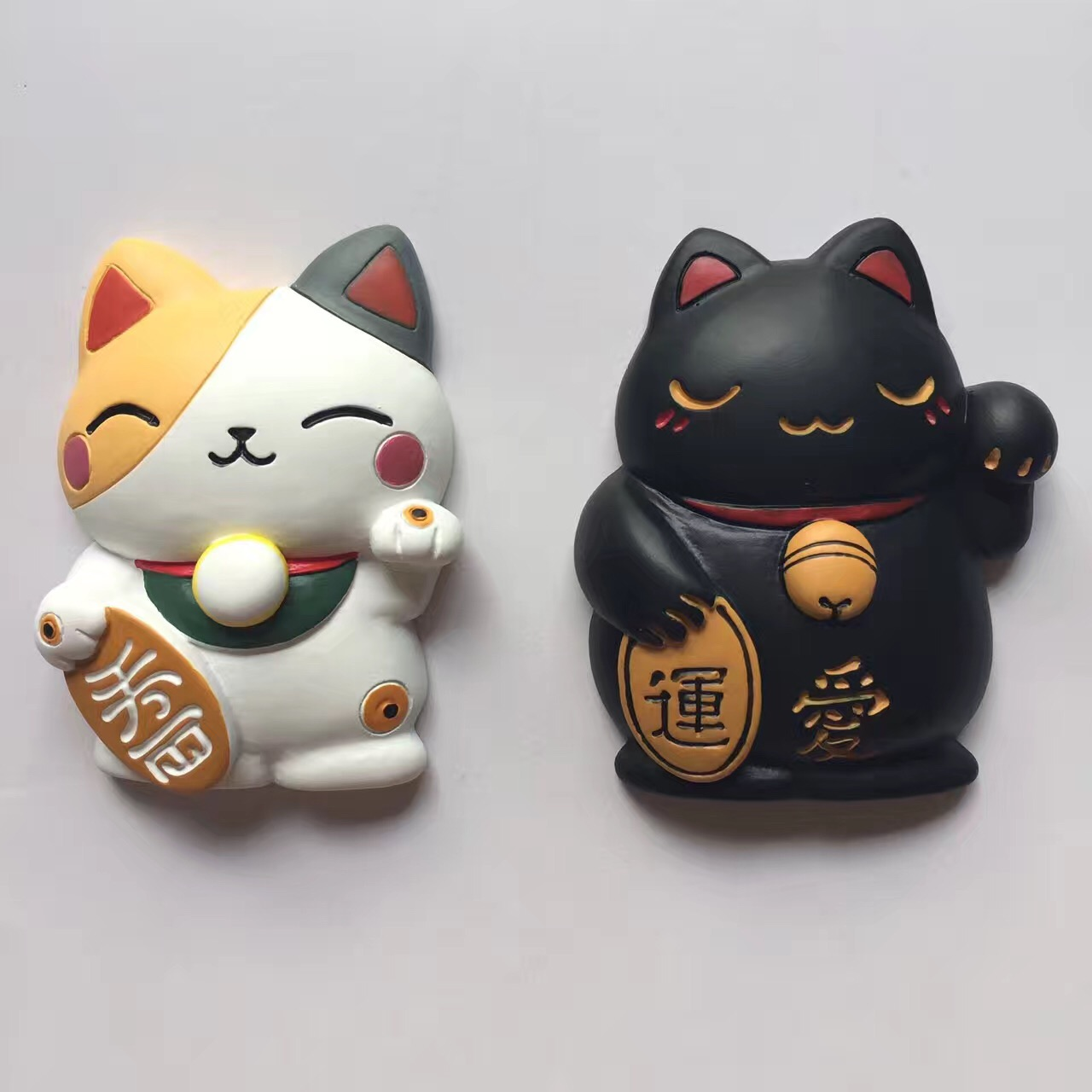 Resin 3D lucky cat fridge m...