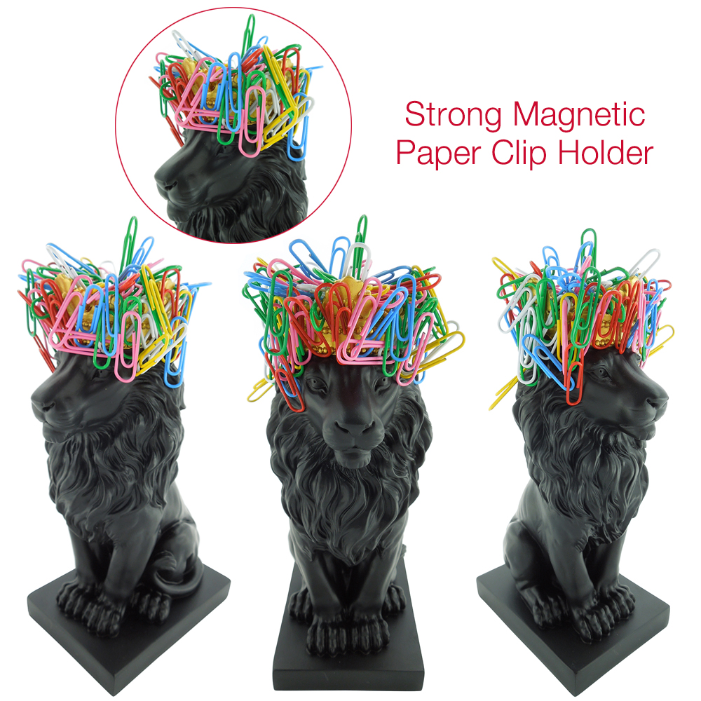 lion figure magentic clip holder