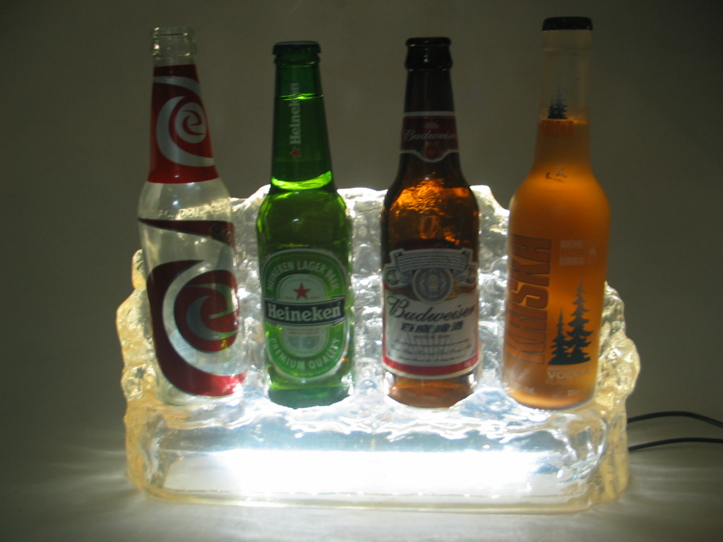led bottle display