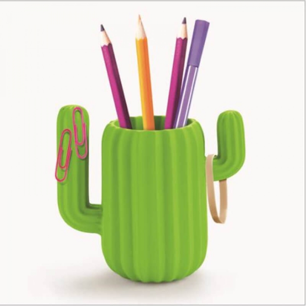 Resin Pen Holder Desktop Organiser-Green Cactus