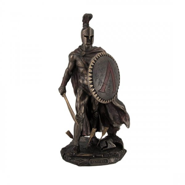 Resin Figurines-Spartan King Leonidas With Bronzed Stautes